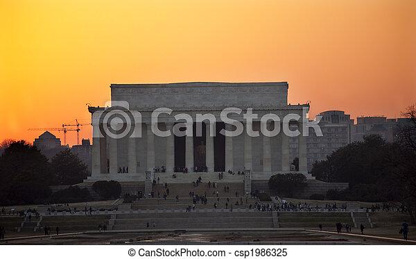 Lincoln Memorial Washington DC Sunset - csp1986325
