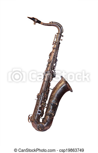 The image of a saxophone isolated - csp19863749