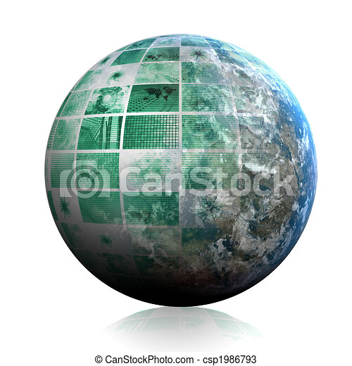 Telecommunications Industry Global Network - csp1986793