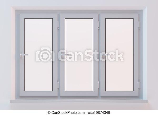 zeichnung von wei es fenster plastik wei es plastik fenster auf a csp19874349. Black Bedroom Furniture Sets. Home Design Ideas