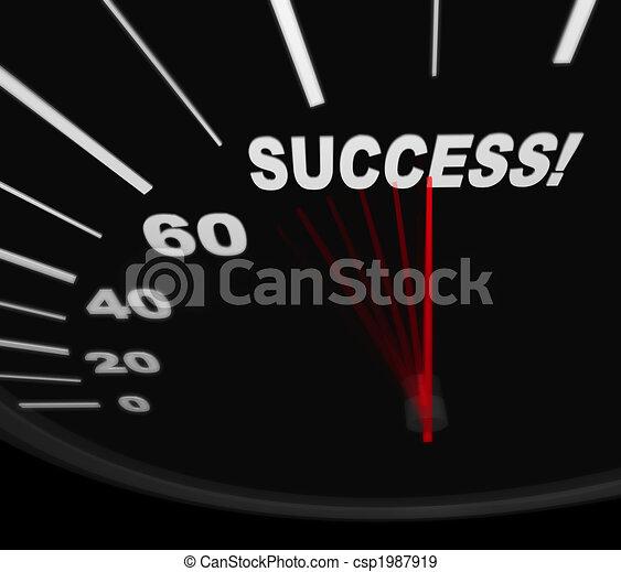Racing Toward Success - Speedometer - csp1987919