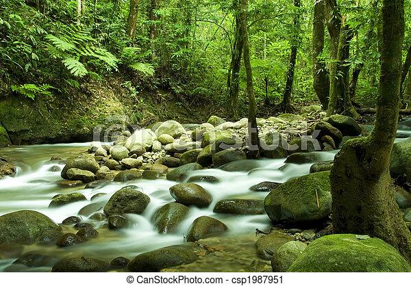 mountain waterfall - csp1987951