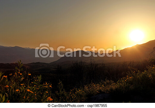 Beautiful Sunrise In the Mountains - csp1987955