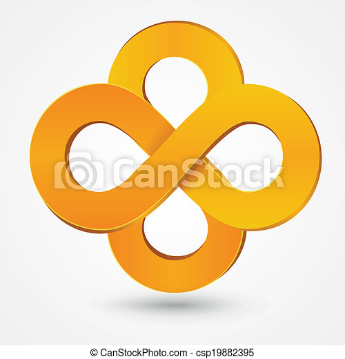 Eps Vectors Of Abstract Double Infinity Orange Sign