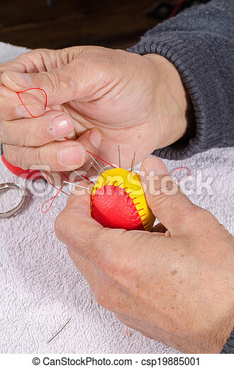 Sewing traditional sport balls
