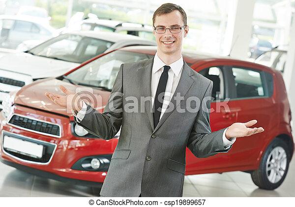 Automobile car dealer salespersom manager - csp19899657