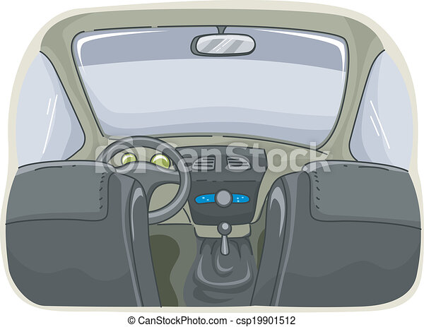 Clip art vecteur de voiture int rieur illustration for Interieur de voiture