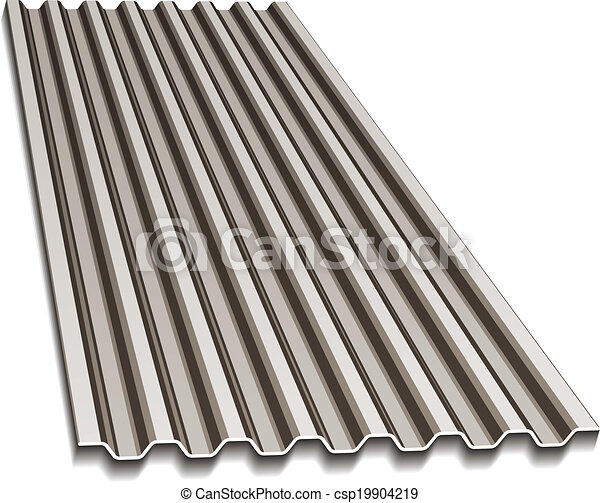 Vector Clip Art Of Vector Corrugated Roofing Sheet