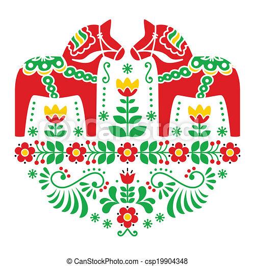 Schwedische Traditionelle Muster