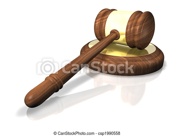 Wooden Gavel - csp1990558