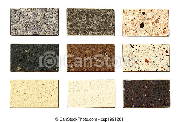 Countertop samples over white - csp1991201