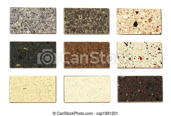 Countertop samples over white - csp1991201