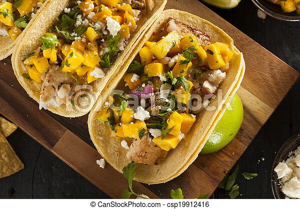 photographies de baja fish fait maison tacos fait maison baja fish csp19912416. Black Bedroom Furniture Sets. Home Design Ideas