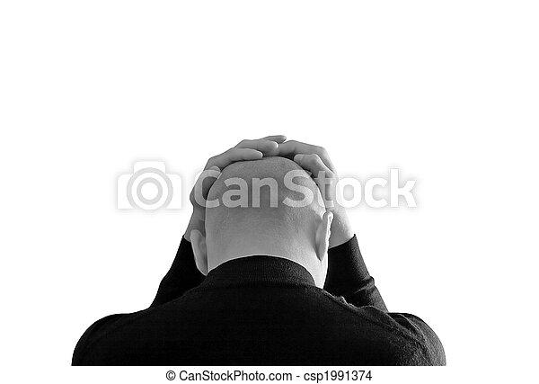 Stressed man - csp1991374