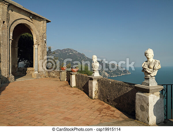 Stock photography of terrace of infinity in vila cimbrone for Terrace of infinity