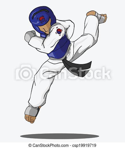 , arte - Taekwondo, marcial, arte csp19919719 - Buscar Clipart ...