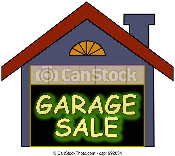 tekening van garage verkoop gloed groot gloeiend