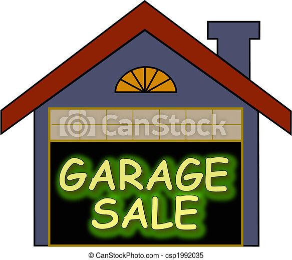 Vecteur clipart de garage vente lueur grand for Fantastici disegni di garage