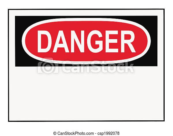 Danger Warning Sign - csp1992078