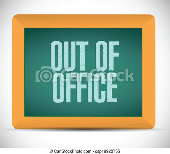Clipart Vector of out of office message illustration ...