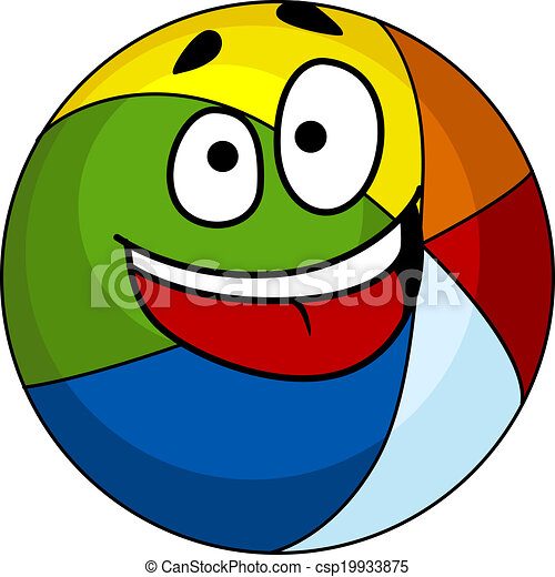 Vectors Illustration of Colorful laughing cartoon beach ...
