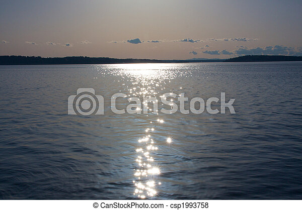 Sun Glitters off the Sea