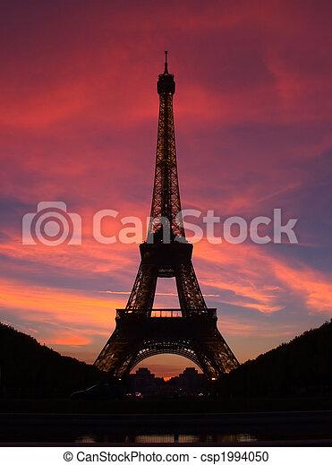 Paris - Eiffel Tower - csp1994050