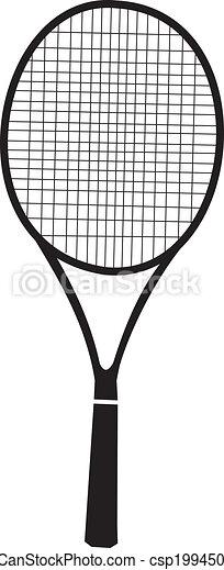 Dessins de raquette noir tennis silhouette - Raquette dessin ...