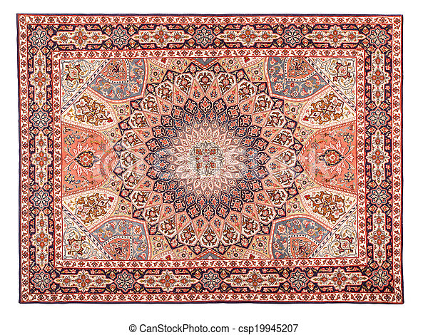 Asian Carpet Texture. Classic Arabic Pattern - csp19945207