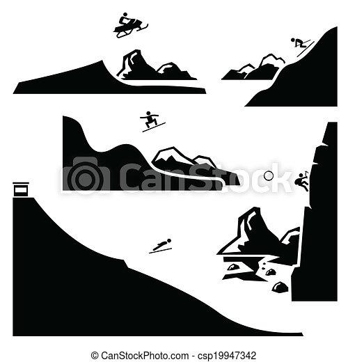 Extreme Sports Pictogram Set 4 - csp19947342