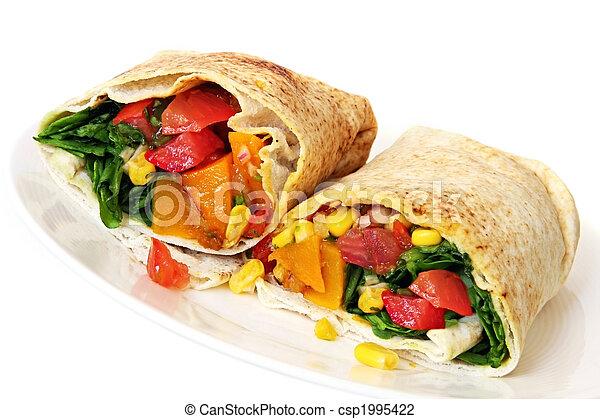 Vegetable Wrap Sandwich - csp1995422