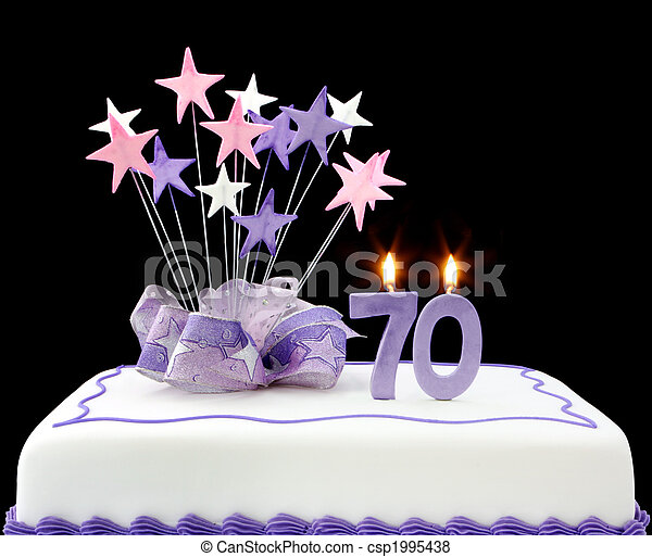 Pictures Of 70th Cake Fancy Cake With Number 70 Candles