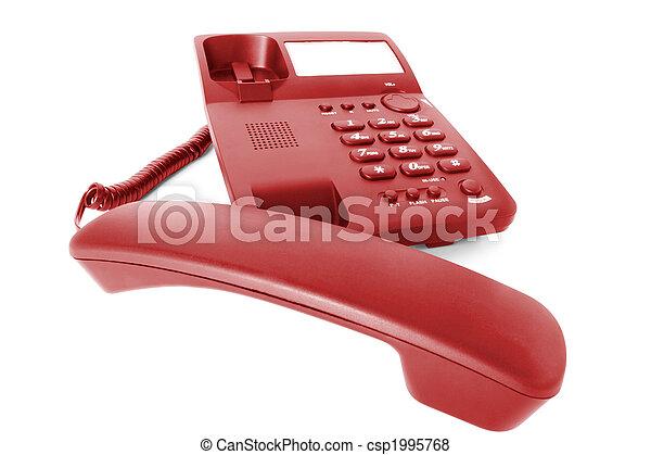 signaltjänst, telefon, kontor - csp1995768