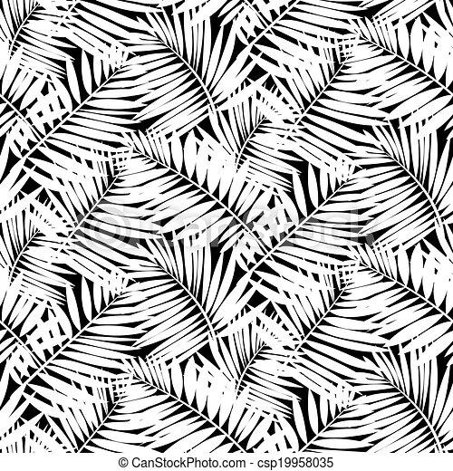 矢量, seamless, 模式, 叶子, 鼓励, 热带, 性质, 植物, 像一样, 手掌