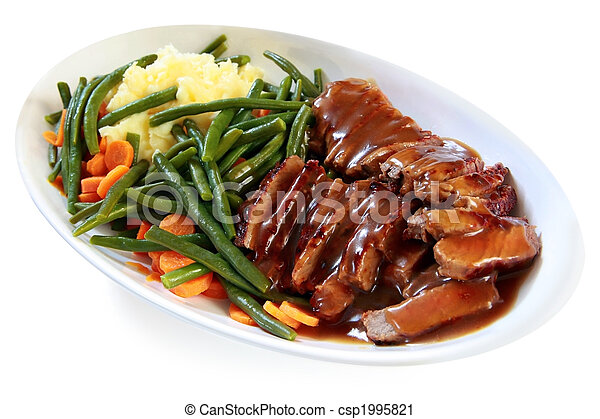 Roast Beef and Vegetables - csp1995821