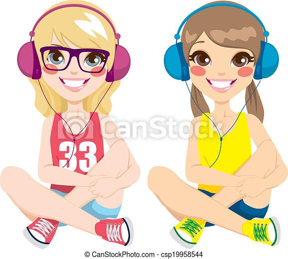 petite adolescente música