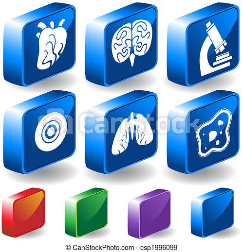 3D Biology Buttons - csp1996099