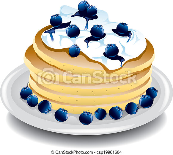 vector clipart of pancakes with blueberries illustration pancake clipart free free pancake clipart images