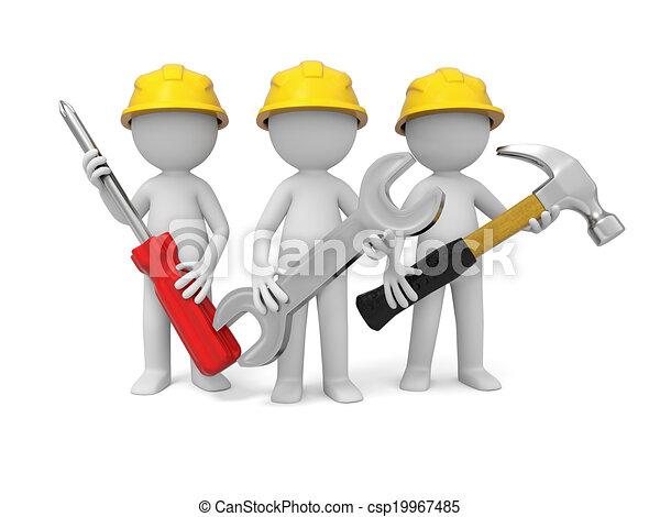 Illustration De Technicien Outillage 3 3d Industriel