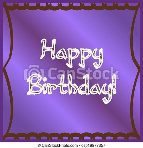 Purple Happy Birthday - csp19977857
