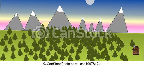 A Mountain Scene - csp19978174