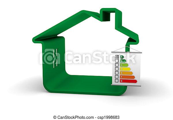建物, パフォーマンス, エネルギー, 分類 - csp1998683