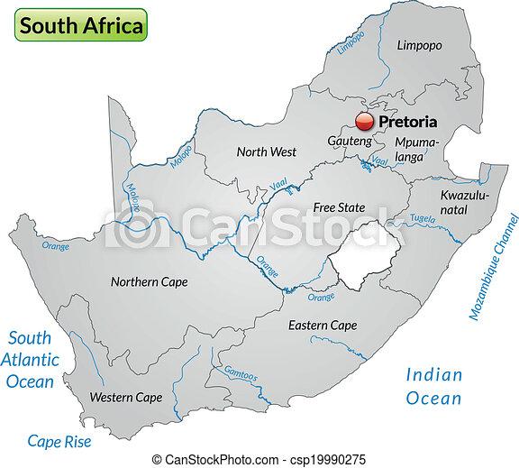 地图, 南方, 非洲 - csp19990275