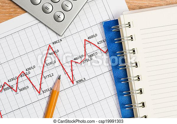 matita, uomo affari, crescita, Posto lavoro, grafico - csp19991303