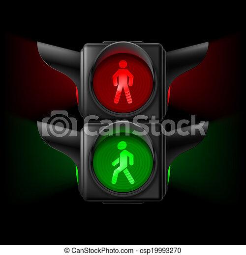 Pedestrian traffic light - csp19993270