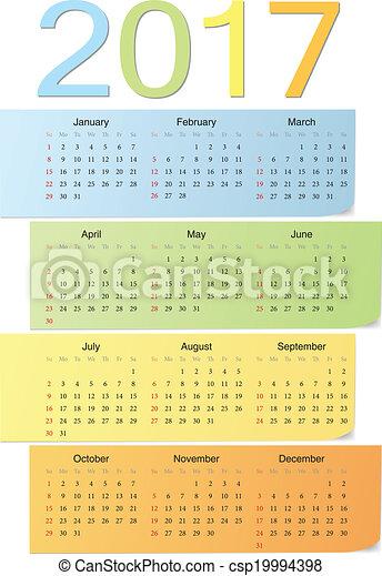 ... カレンダー, 週, 始める, 日曜日