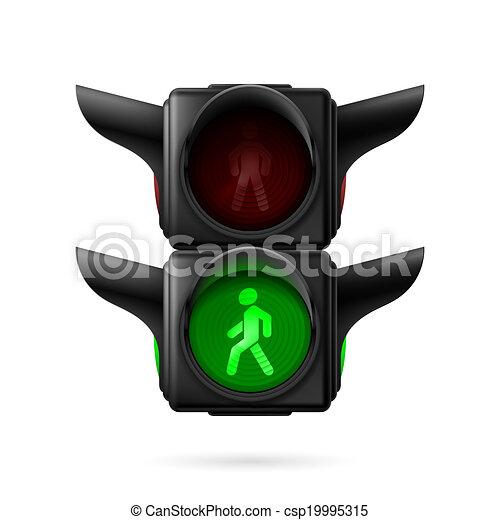 Pedestrian traffic light - csp19995315