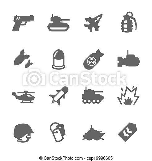 Military Icons - csp19996605