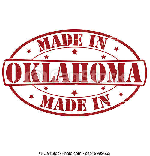 Clip Art Vector of Made in Oklahoma - Stamp with text made in ...