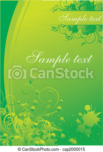 Vegetative ornament with blocks for the text - csp2000015